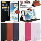 STAND WALLET LEATHER FLIP  CASE COVERFOR SAMSUNG GALAXY NOTE 2 N7100 FREE FILM