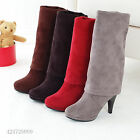 New Fashion Women's High Heel Boots Collapsible Over Knee Shoes AU All Size Y063