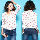 Women Vintage Puff Peplum Top Low-cut Flouncing Slim Fit T-shirt Shirt Blouse Z
