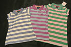 MINI BODEN GIRLS STRIPED PIQUE COTTON POLO DRESS  3 COLOURS 2-14 YEARS RRP £22