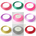 25M Satin Ribbon Craft Supplies 10mm Choose Colour