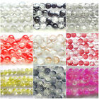 Crackle Glass Beads 100pcx8mm 80pcx10mm 70pcx12mm All Colour
