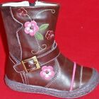NEW Girl's Toddler's KK 26537214 Brown/Pink Flower Zipper Casual Fashion Boots