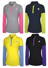Adidas Taylormade Women's Fashion Performance Faux Layered Long Sleeve Golf Polo