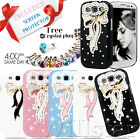 FOR SAMSUNG GALAXY S3 I9300 3D CRYSTAL DIAMOND BOW HARD CASE COVER FREE FILM