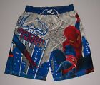 THE AMAZING SPIDER-MAN MOVIE BOYS SWIM TRUNKS BOARD SHORTS VARIOUS SIZES NWT!