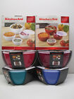KitchenAid  Set of four (4) prep bowls with lids in choice of color
