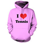 I Love Tennis - Unisex Hoodie - 9 Colours - Wimbledon - Andy Murray - Equipment