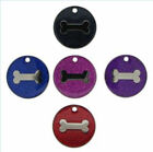 Glitter Pet Tag Disc Bone Design FREE ENGRAVING FREE DELIVERY