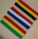 Sports Headband sweat head band red white blue cotton USA Germany France UK Flag