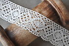 Vintage Style Wide Ivory Cream Lace Crochet Ribbon Wedding Sewing Dress Bridal