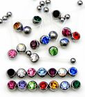 CZ GEM FLEXI PTFE RETAINER, PREGNANCY, MATERNITY NAVEL BELLY BAR, PICK COLOUR