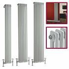 White Vertical Designer 2 Column Tall Central Heating Radiators Various Sizes