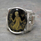 Virgo Zodiac Astrology Sign Sterling Silver Wire Wrapped Ring ANY Size