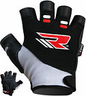 RDX Gel Weight Lifting Body Building Gloves Gym Straps Training Leather Men CA