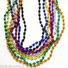 Metallic Bead Necklaces Mardi Gras Beads Fancy Dress Party Accessories 1 Listing