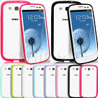 SAMSUNG GALAXY S3 III I9300 TPU BUMPER CLEAR HARD BACK CASE COVER + FREE FILM