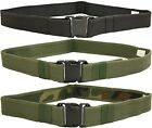 WOODSIDE ADJUSTABLE ARMY RIGGER BELT WEBBING COMBAT TACTICAL SWAT CADET