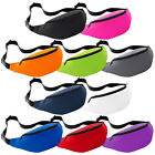 Plain Bum Bag - Festival Money Belt Fanny Pack Purse Hip Wallet Travel Holiday