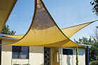 Maribelle 3.6m Triangle Sun Sail Shade Garden Patio Canopy With Ropes & Fittings