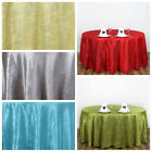 "10 117"" Round Crinkle Taffeta Wedding Party Unique Tablecloth Supplies Wholesale"
