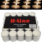 QUALITY WHITE UNSCENTED TEALIGHTS CANDLES 8HR 8 HOUR BURNING TIME TEA LIGHT