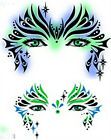 MakeUp! FacePaint Stencil Air Brush Templates Queen, Radiance, Sweet Pea, Voodoo