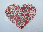 RED HEARTS LOVE GIRLY GLITTER IRON ON SMOOTH LOGO PATCH FOR CLOTHES UK SELLER