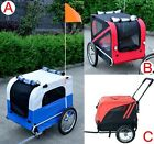 Portable Pet Dog Bicycle Bike Trailer Carrier Pet Stroller 2IN1 360 Swivel Wheel