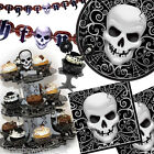 Gothic Skull Terror Halloween Party Decorations Tableware One Listing PS