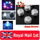 12 LED Waterproof Submersible Lights Candles Replaceable Tea Xmas Wedding Decor