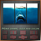 Jaws Modern Abstract Movie WallArt Canvas Art Deco Box ~ 3pc More Size Style
