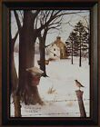 WAITING FOR SPRING by Billy Jacobs FRAMED PICTURE 15x19 Robin Maple Tree Syrup