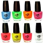 NAIL VARNISH BY W7 FLUORESCENT BRIGHT POLISH ALL COLOURS