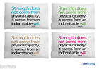 """GANDHI STRENGTH QUOTE SMALL CUSHION CAR TRAVEL ACCESSORY 11"""" X 9"""""""