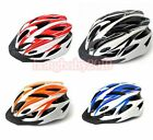 Cycling Bike Sports Bicycle Adult Men Safety 18 Holes Helmet Orange with Visor