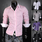 New Sexy Slim Designer Men's Stylish Formal Dress Shirt Casual Shirts Size S~2XL