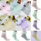 Vintage Ladies Princess Dot Ruffle Frilly Cotton Short Soft Lace Ankle Socks new
