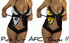 NFL Lingerie Sexy Lace Cami Set - 3 pcs Top, Shorts, Panty - Pick your AFC Team!