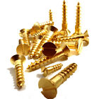 No.12, SOLID BRASS SLOTTED COUNTERSUNK WOOD SCREW, 12g GAUGE SCREWS, BS1210