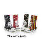 NEW Women's Mid Calf Flatform Flat Heel Boots Lace Up Shoes US Size 4-7.5 Y504