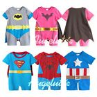 New Baby Boy Girl Superman Batman Spiderman Costume Romper  Outfit  size 0/1/2