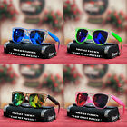 Vintage Fashion Square Mirror Shades Sunglasses 2 Tone Clear Men's Women's New