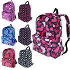 Backpack Rucksack Printed School Gym College Travel Girls Women Work A4 Bag