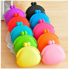1pc Candy Color Silicone Coin Wallets Fit Lady/Girls