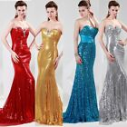 Sexy Shinning Sequins Prom Party Gown Evening Cocktail Long Mermaid Dresses New