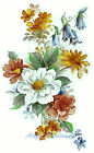 Ceramic Decals ELEGANCE Mixed Floral Bouquet
