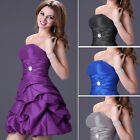 TUTU Strapless short formal evening cocktail Ballgown Bridesmaid Party Dress New