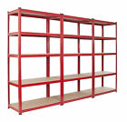 3 Bay Warehouse Racking 5 Tier Garage Shelving  Steel WIDE & DEEP TS18/12/55