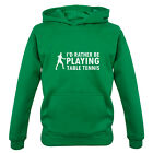 I'd Rather Be Playing Table Tennis - Kids / Childrens Hoodie - Ping Pong